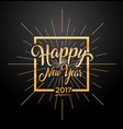 happy 2017 new year vector image