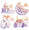 ramadan kareem generous ramadan background for vector image