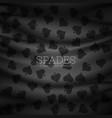 dark spades pattern background vector image