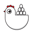 hen and eggs vector image vector image