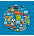 Soccer icons set shape circle vector image vector image