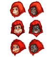 Heads of chimpanzees vector image vector image