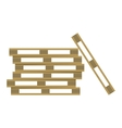 Wooden warehouse shelves vector image