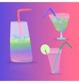 Cartoon Cocktails Summer2 vector image