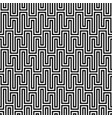 Black and white waveform seamless pattern vector image