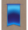 Blue bookmark ribbon vector image