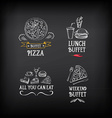 Buffet menu restaurant design All you can eat vector image