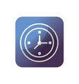 button wall clock to know hours time vector image
