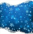 Christmas with crystal snow background vector image
