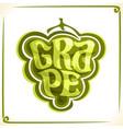 logo for green grape vector image