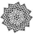 stylized star flower mandala vector image