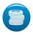 tire fitting icon blue vector image