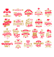 Valentine designs set vector image