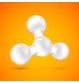 White molecule icon vector image