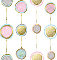 Gold christmas pattern ornaments and decoration vector image