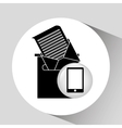 black smartphone device receiving email vector image