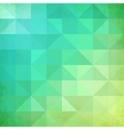Abstract geometry trianglesgreen pattern vector image
