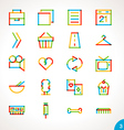Highlighter Line Icons Set 3 vector image vector image