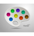 Modern art palette with colors vector image