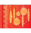 Bright Christmas greeting card vector image