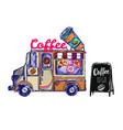coffee shop outdoor composition vector image