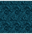 Dark blue ornamental seamless vector image