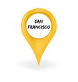 Location San Francisco vector image