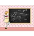maths girl vector image