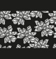 seamless pattern with vintage magnolia flowers vector image