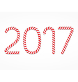 2017 Candy Canes vector image