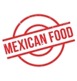 Mexican food rubber stamp vector image