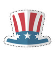 usa hat isolated icon vector image
