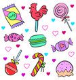 doodle of candy colorful style vector image
