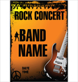 Rock concert background vector image vector image