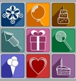 Icons to Birthday vector image vector image