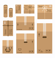 paper boxes set product package mockup design vector image