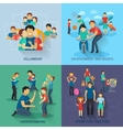 Fatherhood Flat Set vector image