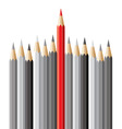pencils leadership concept vector image vector image
