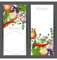 Banners design with various herbs and spices vector image
