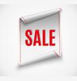 big sale banner red ribbon vector image