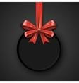 Birthday round design template Invitation banner vector image