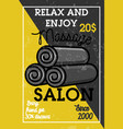 color vintage massage salon banner vector image