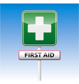 First aid traffic sign vector image