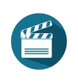 icon clapperboard movie design vector image