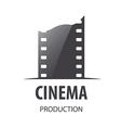 logo for videotape film production vector image