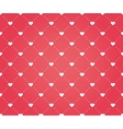 Seamless pattern of hearts on a red background vector image
