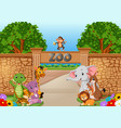 zoo and animals in a beautiful nature vector image
