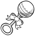 doodle baby rattle vector image