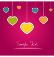 Card with colorful love hearts vector image vector image