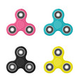 fidget spinners in flat style vector image